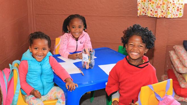 Ein Kindergarten in Khayelitsha